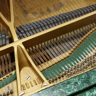 Neoclassical style gilt bronze mounted malachite piano by Russian firm Schröder