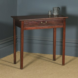 Antique English Georgian Mahogany Occasional Hall Writing Lowboy Side Table (Circa 1810)