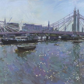 'Albert Bridge, High Tide, High Summer' by Luke Martineau (born 1970)