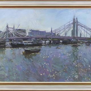 Albert Bridge, High Tide, High Summer