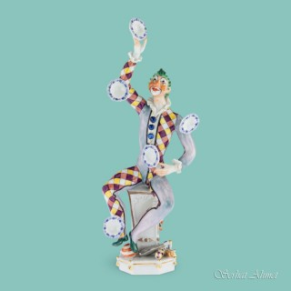 Meissen Figure of The Juggler by Peter Strang, c.1976