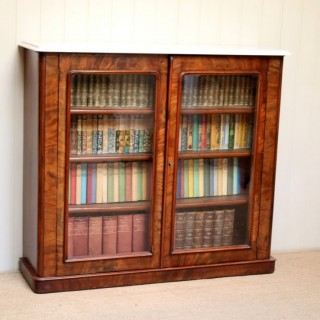 Mahogany Marble Top Bookcase