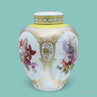 KPM Berlin Vase and Cover with Floral Decoration, c.1908