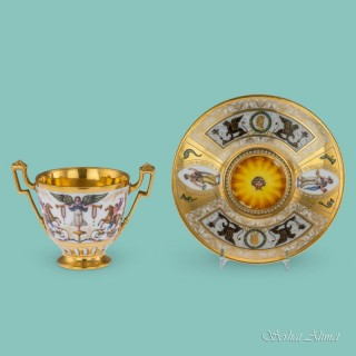 Nast Rare Cup and Stand, c.1800