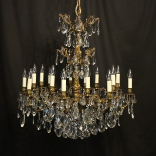 Italian Gilt Bronze 16 Light Antique Chandelier