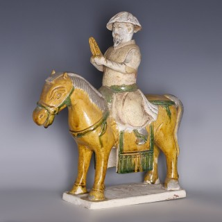Qing Dynasty Sancai Glazed Musician on Horse