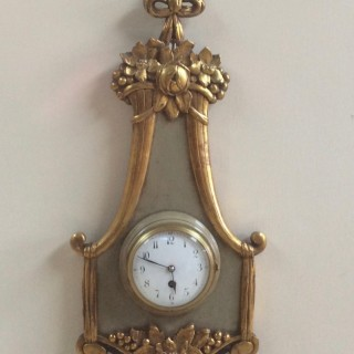 French Giltwood Wall Clock