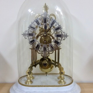 Victorian Skeleton Mantel Clock