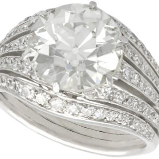 3.98ct Diamond and Platinum Dress Ring - Art Deco - Antique Circa 1925