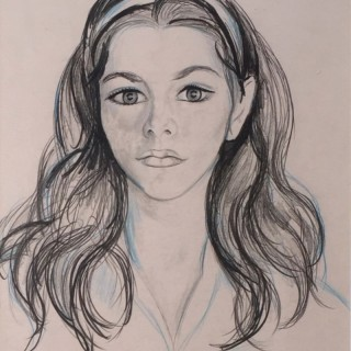 Portrait of a Young Girl by Edward Wolfe RA (1897-1982)