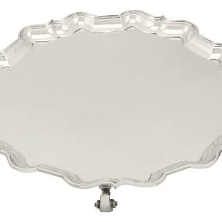 Sterling Silver Salver - Antique George V (1928)