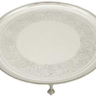 Sterling Silver Salver - Antique Victorian (1891)