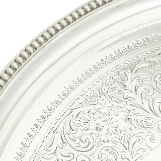 Sterling Silver Salver - Antique Victorian (1891)