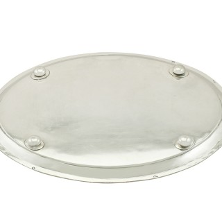 Italian Silver Tray - Antique Circa 1800