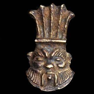 Egyptian Bes Amulet Modelled in Gold