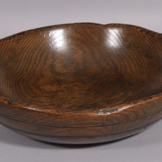 Antique Treen 18th Century Burr Oak Bowl