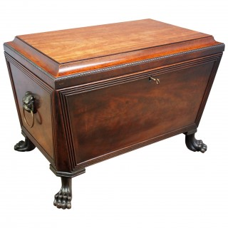 Scottish Mahogany Sarcophagus Wine Cooler