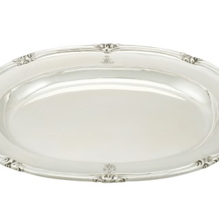 Set of Three Russian Silver Meat Platters - Antique 1857