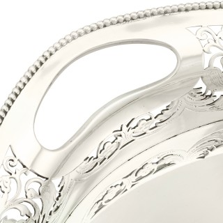 Sterling Silver Galleried Tea Tray - Antique Victorian (1894)