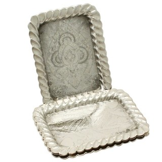 Set of Four Sterling Silver Playing Card Trays - Antique Victorian