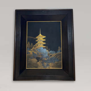 An early 20th Century Japanese gilded Iron panel