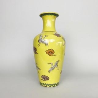 An unusual Meiji-era Japanese Cloisonne vase signed Ando