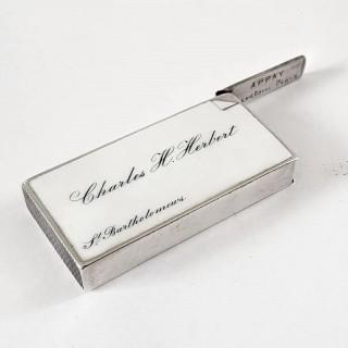 Victorian Silver And Enamel Vesta Case