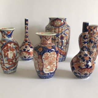 Collection of Imari Vases