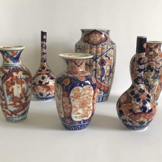 Collection of Imari Vases