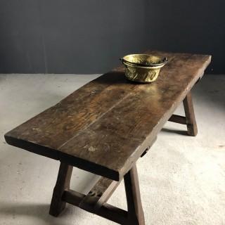 18th Century Low Oak Table