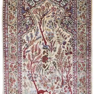 Silk Hereke rug