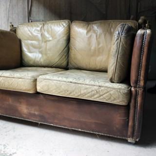 A Mid 20thC Leather Knole Sofa