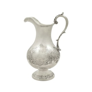 Antique Scottish Victorian Sterling Silver Jug - Edinburgh 1862