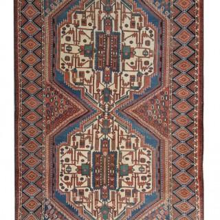 Antique Persian Carpet Rug, Afshar