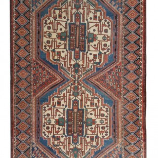 Antique Persian Carpet Rug, Afshar 134x 250cm