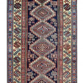 Antique Kazak Runner Rug, Caucasian 268x113cm