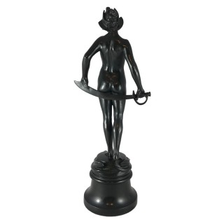 Salome – bronze figure on marble base by Sir Bertram Mackennal