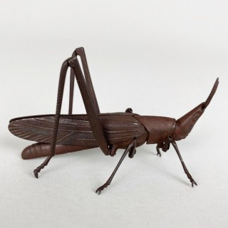 An iron Jizai articulated Grasshopper, Japanese 19th Century