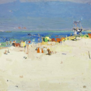 Summer at the Beach by Avraham Binder (1906-2001)