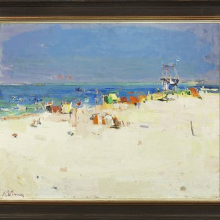 Summer at the Beach by Avraham Binder (1906-2001)