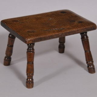 Antique Ash Stool of the Georgian Period