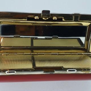German Silver Gilt Art Deco Enamel Minaudiere