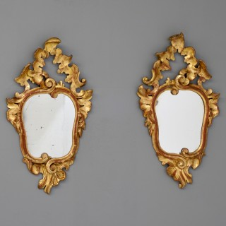Pair of gilded mirrors