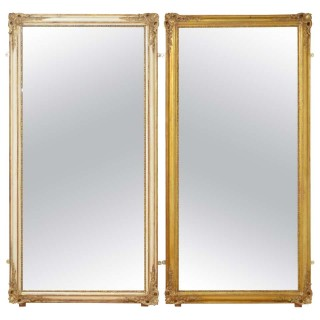 Rare Pair of 19th Century Full Size Mirrors