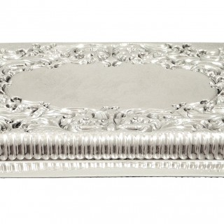 Antique Victorian Sterling Silver Dressing Tray 1899