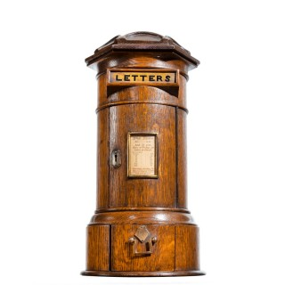 A Victorian oak country house letterbox by Rodrigues 1872