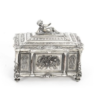 Antique Victorian Silver-plated casket by Mappin & Webb 19th Century