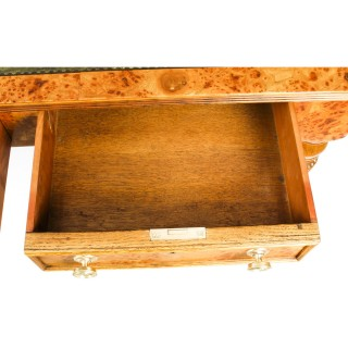 Antique Victorian 6 Drawer Pollard Oak Partners Writing Table Desk C1850 19th C