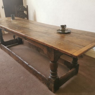 A Large C.18th Oak Refectory Table