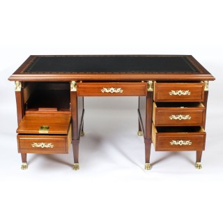 Antique French Empire Revival Ormolu Mounted Desk C1880 19th Century